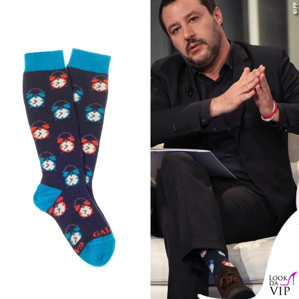 Matteo Salvini calze Gallo