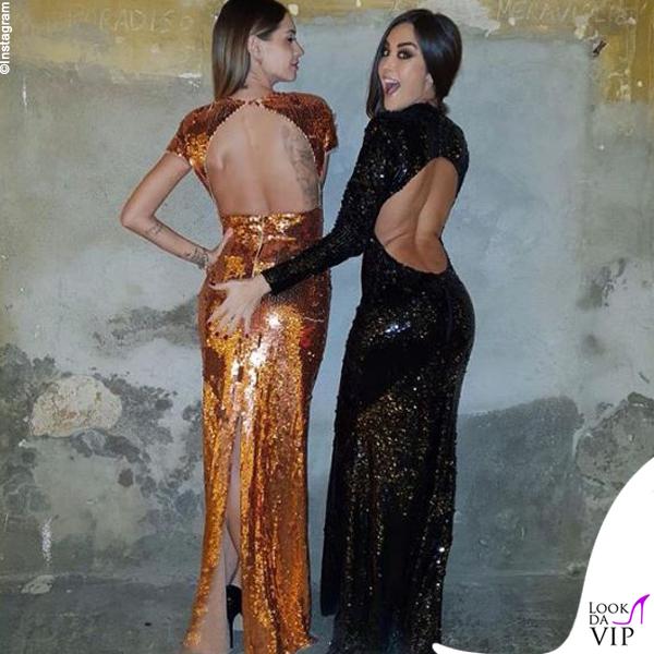 Melissa Satta e Giorgia Palmas in Elisabetta Franchi