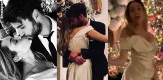 Miley Cyrus Liam Hemsworth matrmonio abito Vivienne Westwood sneakers Vans