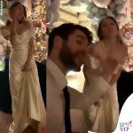 Miley Cyrus Liam Hemsworth matrmonio abito Vivienne Westwood sneakers Vans 5