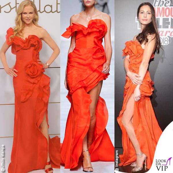 Nicole Kidman Marica Pellegrinelli abito Ermanno Scervino