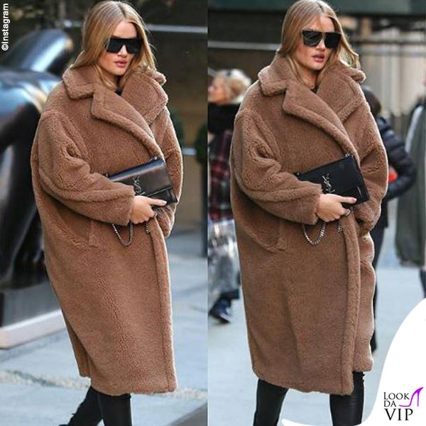 Rosie Huntington Whiteley cappotto Max Mara