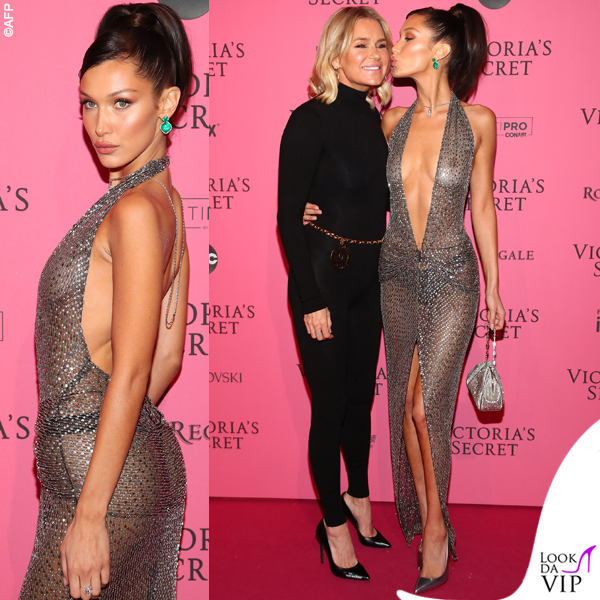 Victoria's Secret Fashion Show after party Bella Hadid abito Julien Macdonald