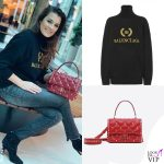 Alena Seredova maglione Balenciaga borsa Valentino stivali Gianvito Rossi 2