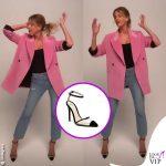 Alessia Marcuzzi Isola giacca Msgm scarpe Alevi Bianca