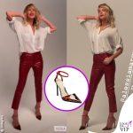 Alessia Marcuzzi Isola pantaloni JBrand Alevi Vanessa