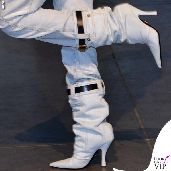 Alessia Marcuzzi presentazione Isola total look Versace