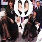 Asia Argento Maurizio Costanzo Show abito Antonio Marras scarpe Elisabetta Franchi