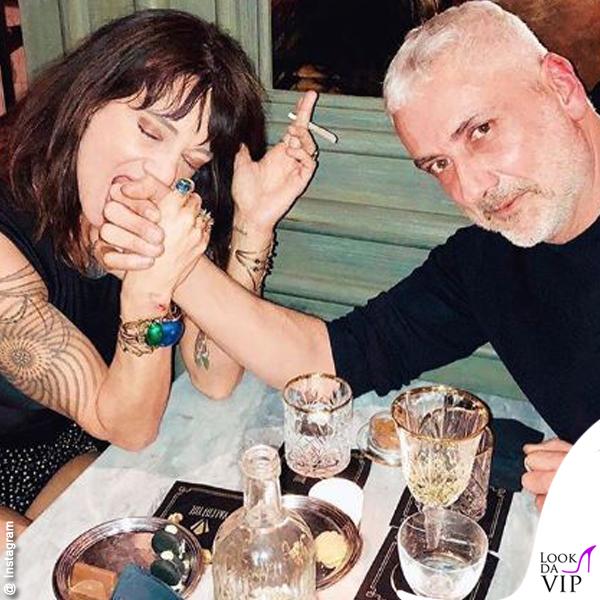 Asia Argento con Antonio Grimaldi