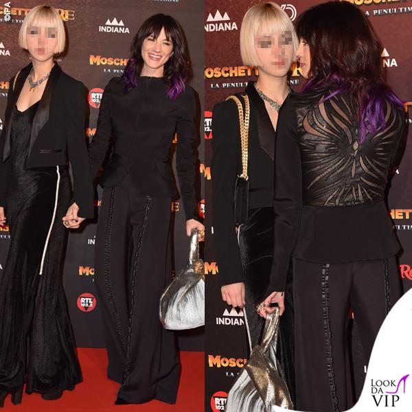 Asia Argento total look Antonio Grimaldi Anna Lou Castoldi