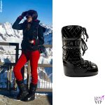 Aida Yespica stivali Moon Boot