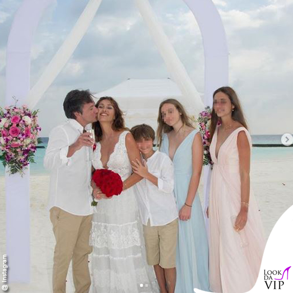Benedetta Parodi abito da sposa Atelier Emé gioielli Rue des Mille Fabio Caressa 1