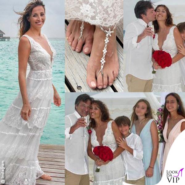 cheap for discount f4826 819c8 Benedetta Parodi, sposa scalza alle Maldive - lookdavip.com