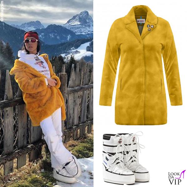 Caterina Balivo giacca Invicta stivali Moon Boot 2