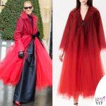 Celine Dion cappotto Oscar De La Renta