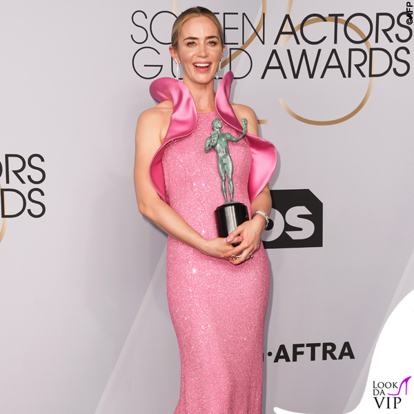 Emily Blunt abito Michael Kors Sag Awards 8