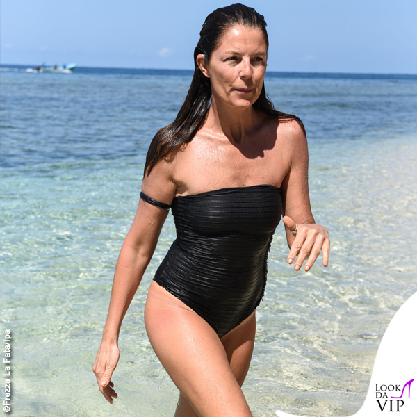 Isola Marina La Rosa costume intero nero Effek