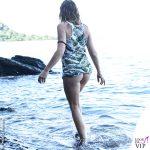 Isola Marina La Rosa vestito foglie Effek