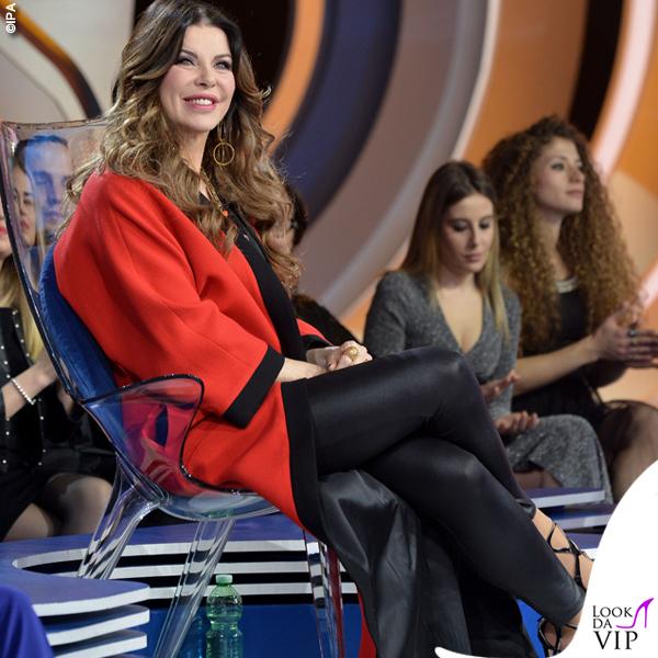 Isola prima puntata Alba Parietti total look Fausto Puglisi scarpe Racine Carree 3