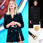 Isola prima puntata Alessia Marcuzzi total look Versace 5