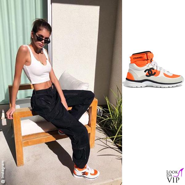Kaia Gerber sneakers Chanel