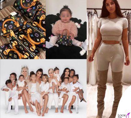 Kim Kardashian borse Louis Vuitton per figlie e nipoti