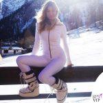 Maddalena Corvaglia tuta Colmar stivali Moon Boot Starwars
