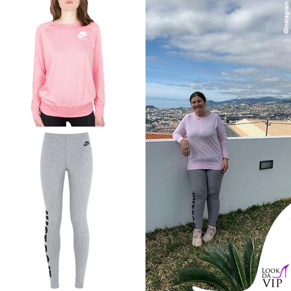 Maria Dolores dos Santos Aveiro outfit Nike