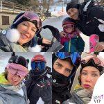 Matteo Viviani e Ludmilla Radchenko felpa Gucci
