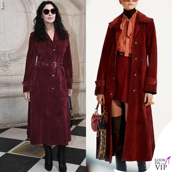 Monica Bellucci cappotto Dior