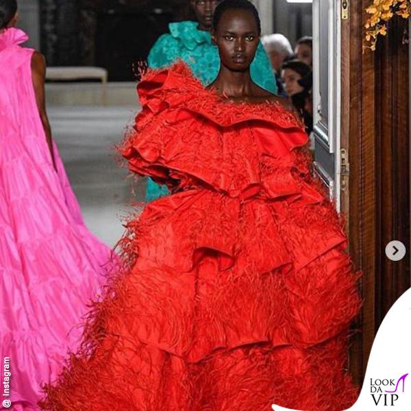 Nyarach Aboja sfila per Valentino HC