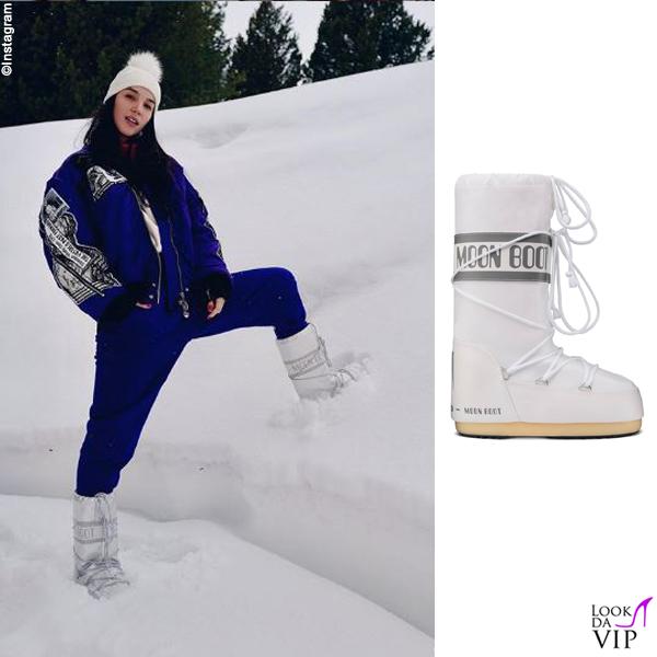 Paola Di Benedetto stivali Moon Boot