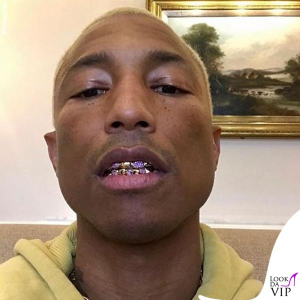 Pharrell gioielli dentali grillz