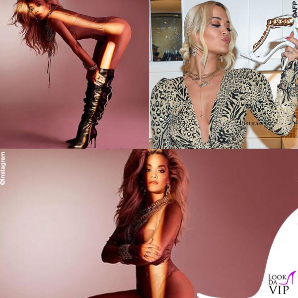 Rita Ora collaborazione Giuseppe Zanotti 2 abito Peter Dundas 4