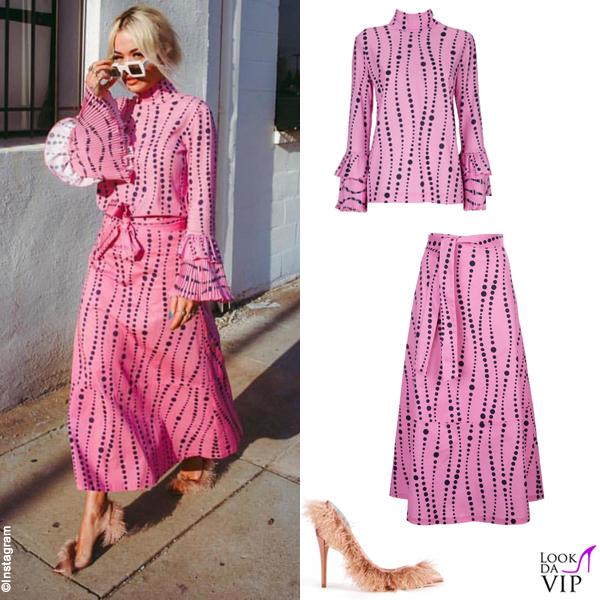 Rita Ora outfit La Double J scarpe Gina Curlew 2