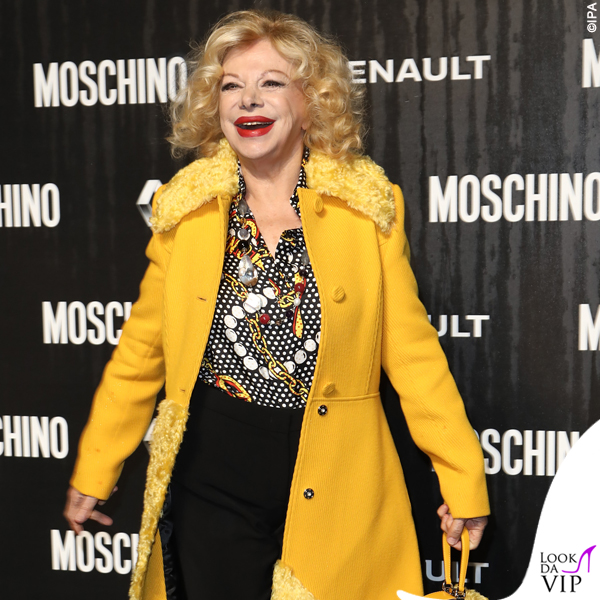 Sandra Milo outfit Moschino