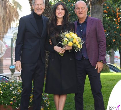 Sanremo 2019 Caludio Baglioni in Ermanno Scervino Claudio Bisio in Etro Virginia Raffaele scarpe Casadei