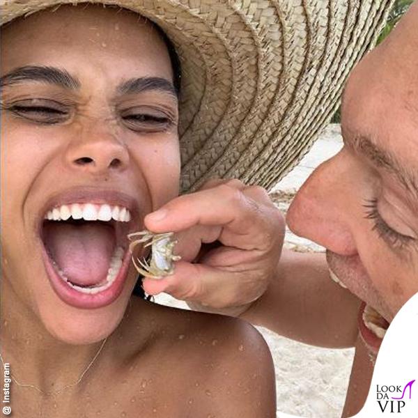Tina Kunakey incinta Vincent Cassel