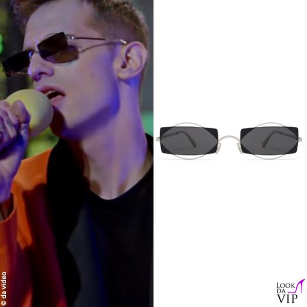 Achille Lauro occhiali da sole Mykita /Damir Doma