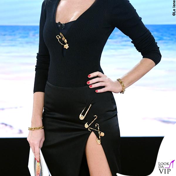Alessia Marcuzzi Isola dei Famosi sesta puntata outfit Versace 7