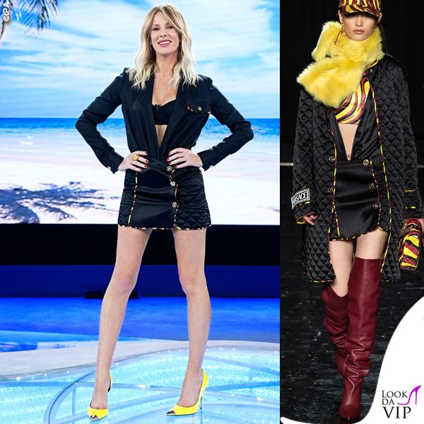 Alessia Marcuzzi Isola settima puntata outfit Versace