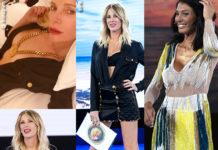 Alessia Marcuzzi Isola settima puntata outfit Versace Giorgia Venturini abito Elisabetta Franchi_