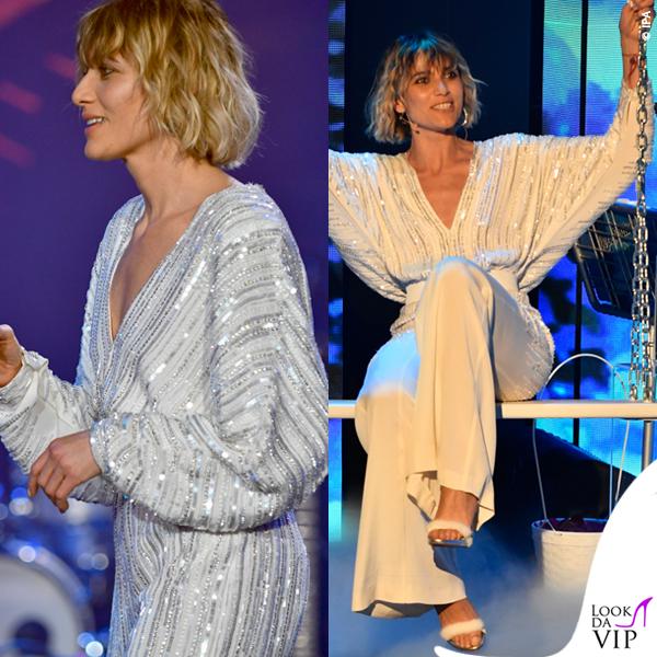 Anna Foglietta Dopofestival Sanremo tuta Alberta Ferretti Limited Edition 1