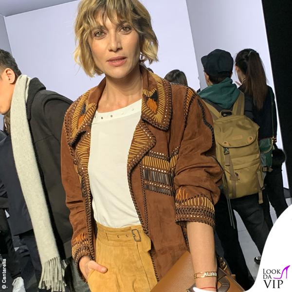 Anna Foglietta MFW total look Alberta Ferretti 1