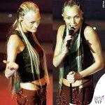 Anna Oxa Sanremo 1999 tanga nero