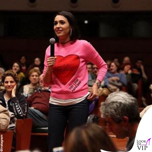 Caterina Balivo maglione Giada Benincasa