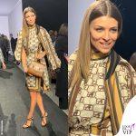 Cristina Chiabotto MFW total look Alberta Ferretti