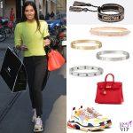 Elisabetta Gregoraci sneakers Balenciaga bracciali Cartier Anita Ko e Dior borsa Hermes 10