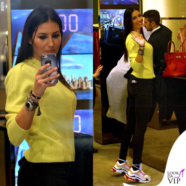 Elisabetta Gregoraci sneakers Balenciaga bracciali Cartier Anita Ko e Dior borsa Hermes 4