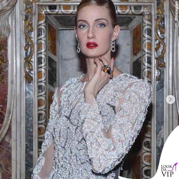 Eva Riccobono abito Byblos gioielli Pomellato